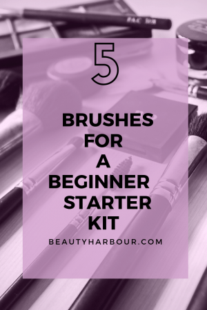 5 brushes for a beginner kit