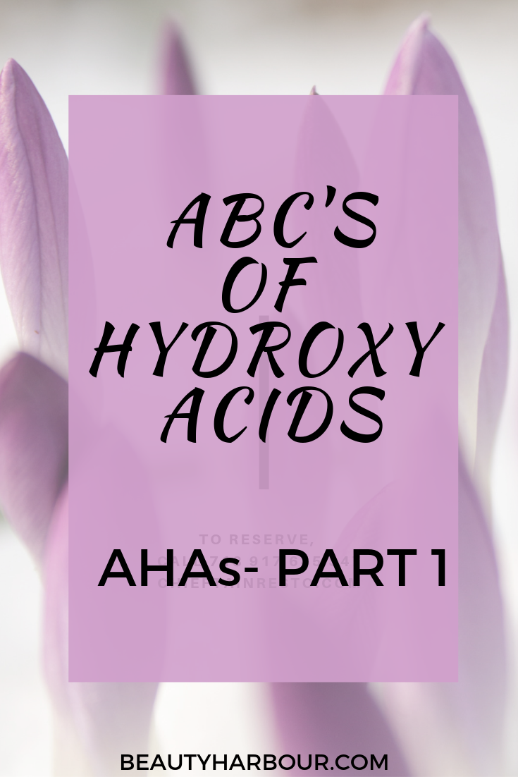 ABCs of Hydroxy Acids -AHAs