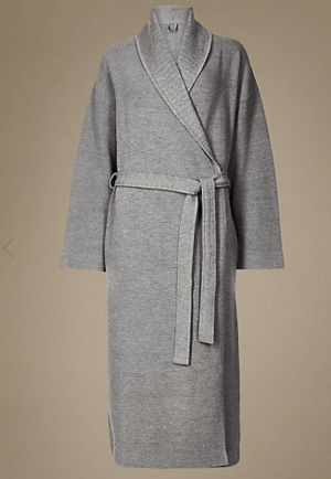 marks and spencer dressing gown grey
