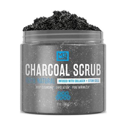 M3 naturals activated charcoal scrub.face scrub