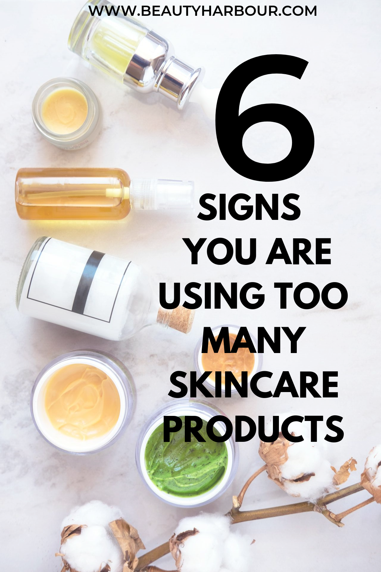 Too many skincare products